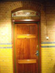 De deur naar de Ontvangkamer, let op het kleurgebruik
