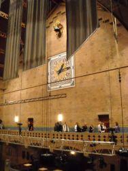 De klok in de Grote Zaal (v/m Goederenbeurs)