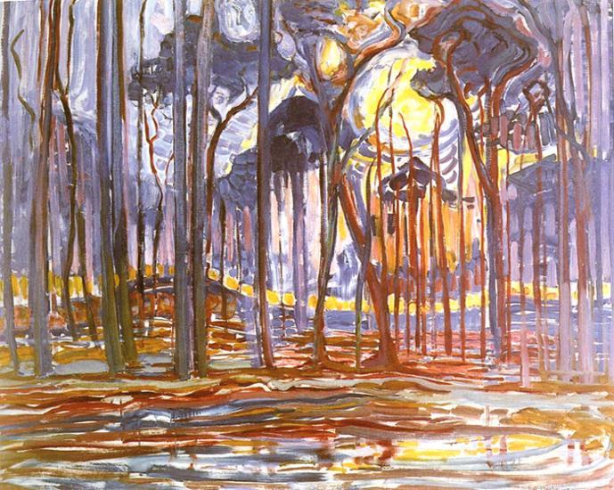 Bos bij Oele van Mondriaan