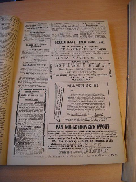Oude kranten lagen ter inzage, let op het biermerk