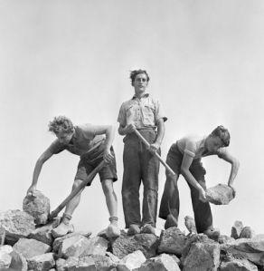 Les in bouwtechnieken, Werkdorp Nieuwesluis, Wieringermeer, 1939
