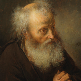 Gerrit Dou - Oude man in gebed