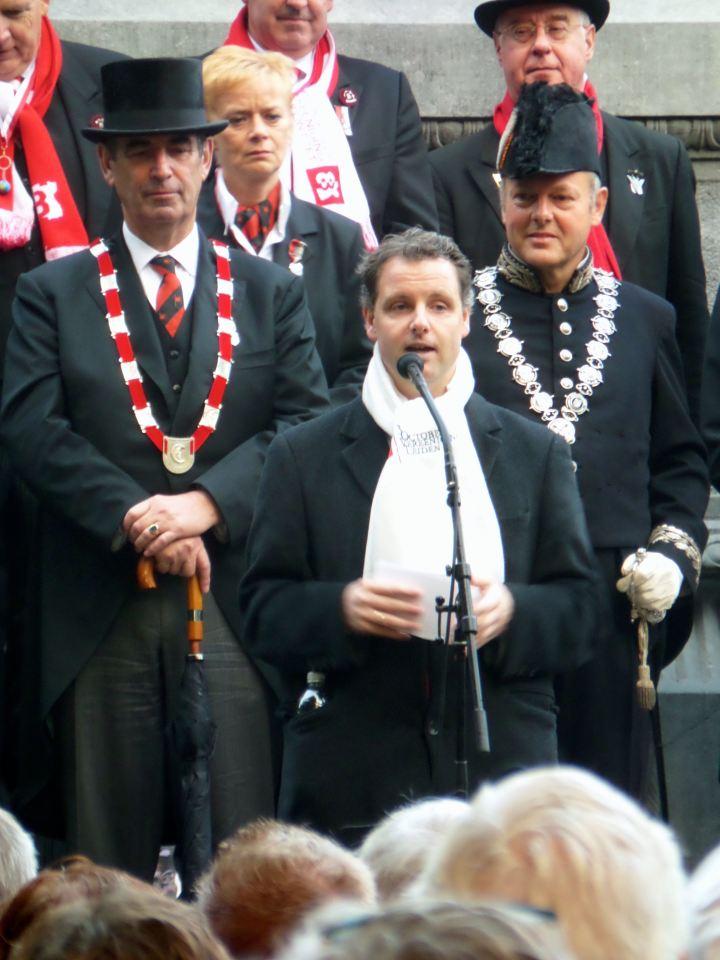 Joost Bleijie spreekt de Den Tonkelaarrede uit